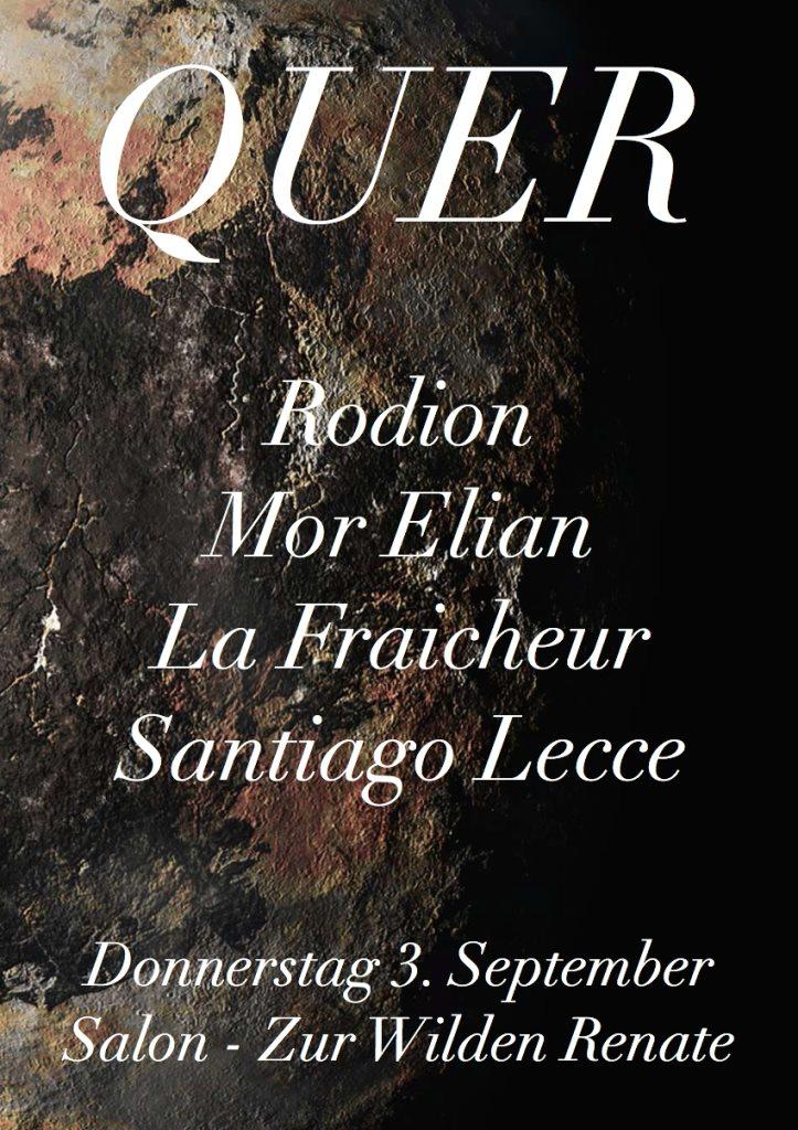 Ra quer with rodion mor elian la fraicheur at salon zur for Salon zur wilden renate