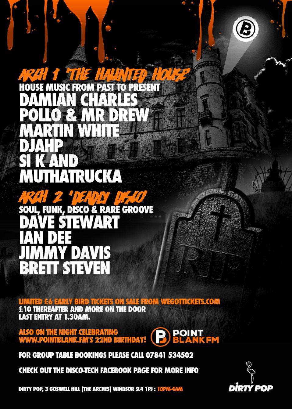 RA: Disco-Tech Halloween Party at Dirty Pop, London (2016)