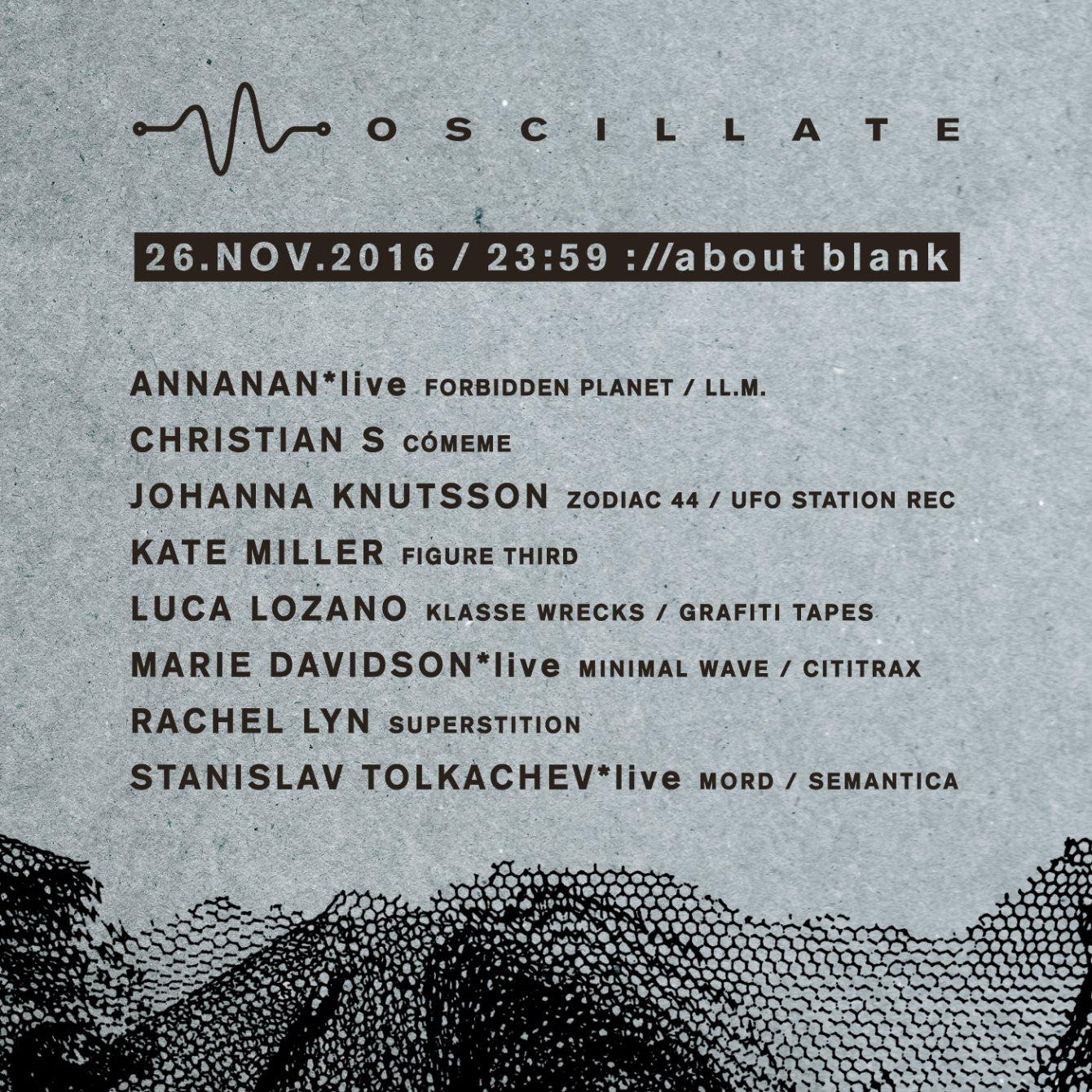 OSCILLATE – 2nd Anniversary