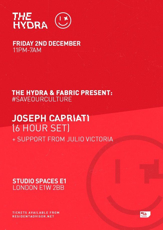 Ra The Hydra Fabric Present Saveourculture Joseph Capriati At Tba London London 2016