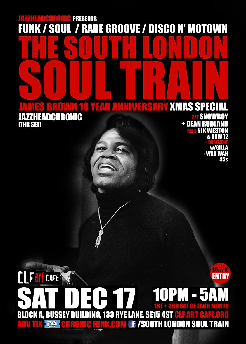 Ra the south london soul train 4 floor xmas special w jhc for 17th floor band