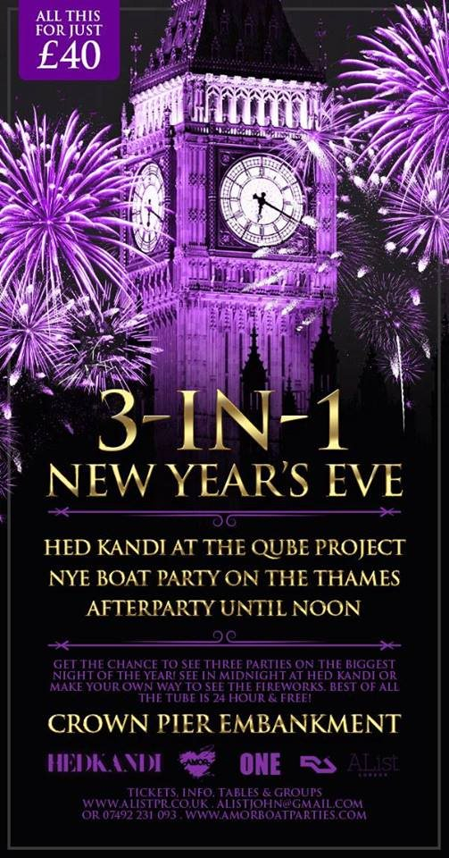 New years eve venues london