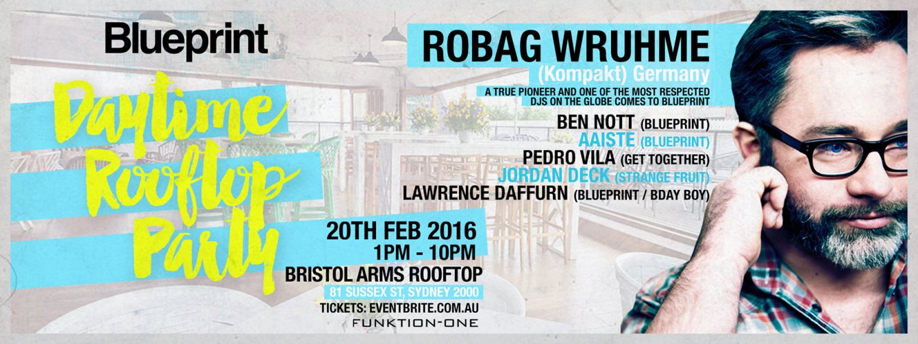 Ra blueprint feat robag wruhme at bristol arms hotel rooftop line up malvernweather Images