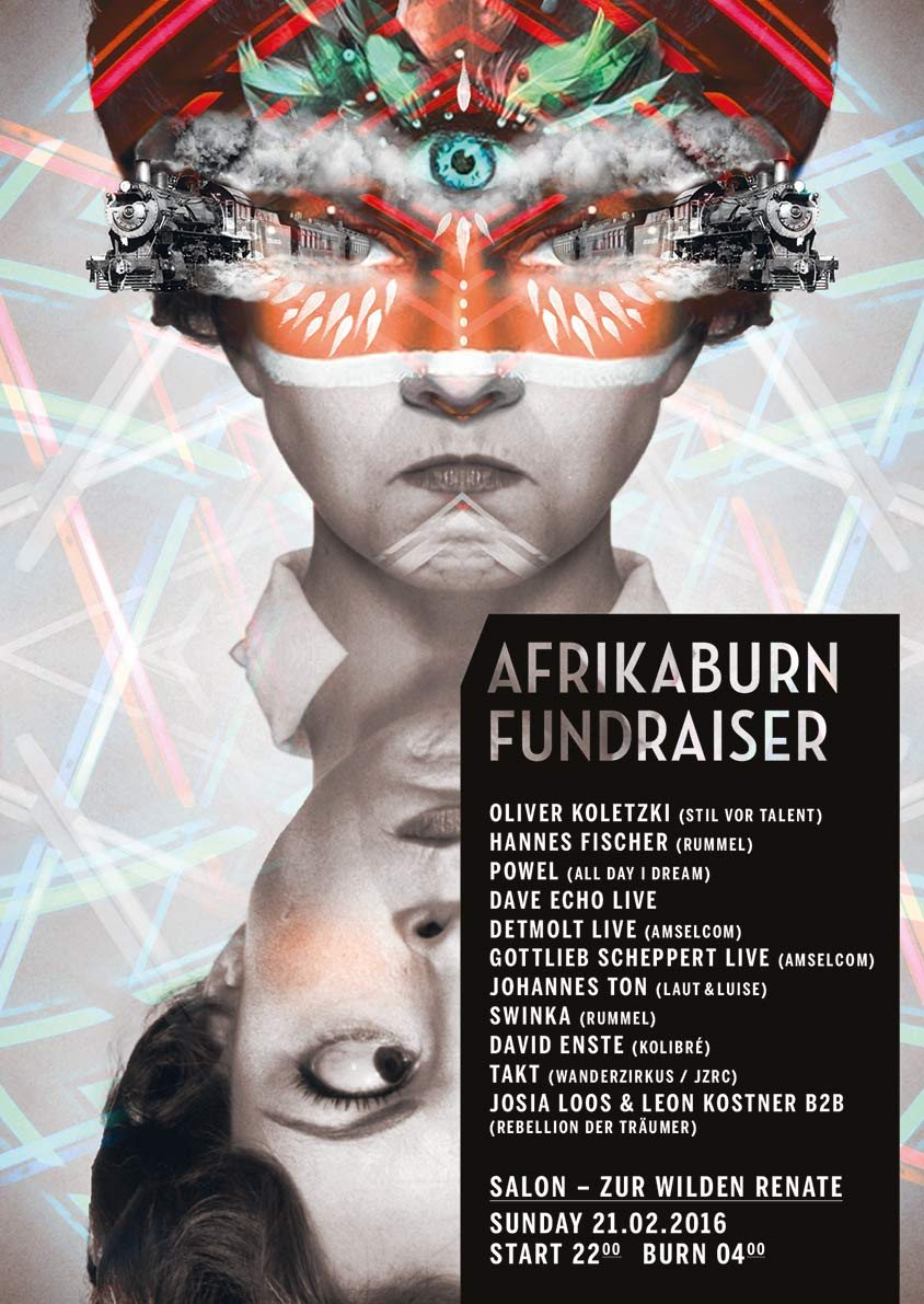 Ra afrikaburn fundraiser at salon zur wilden renate for Salon zur wilden renate
