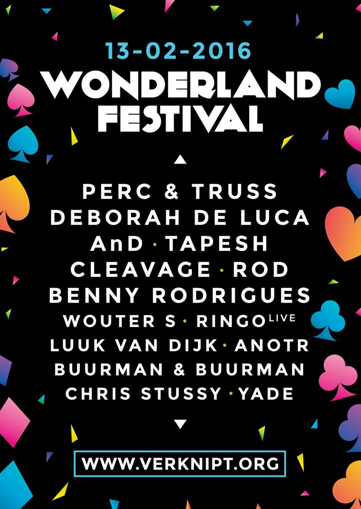 Page 1 | 13 Feb 2016 | Amsterdam | Wonderland Festival Indoor 2016 at Amsterdam Studio's. Published by Trony on Sunday, 03 January 2016 in Clubs and Discoteque (Events)