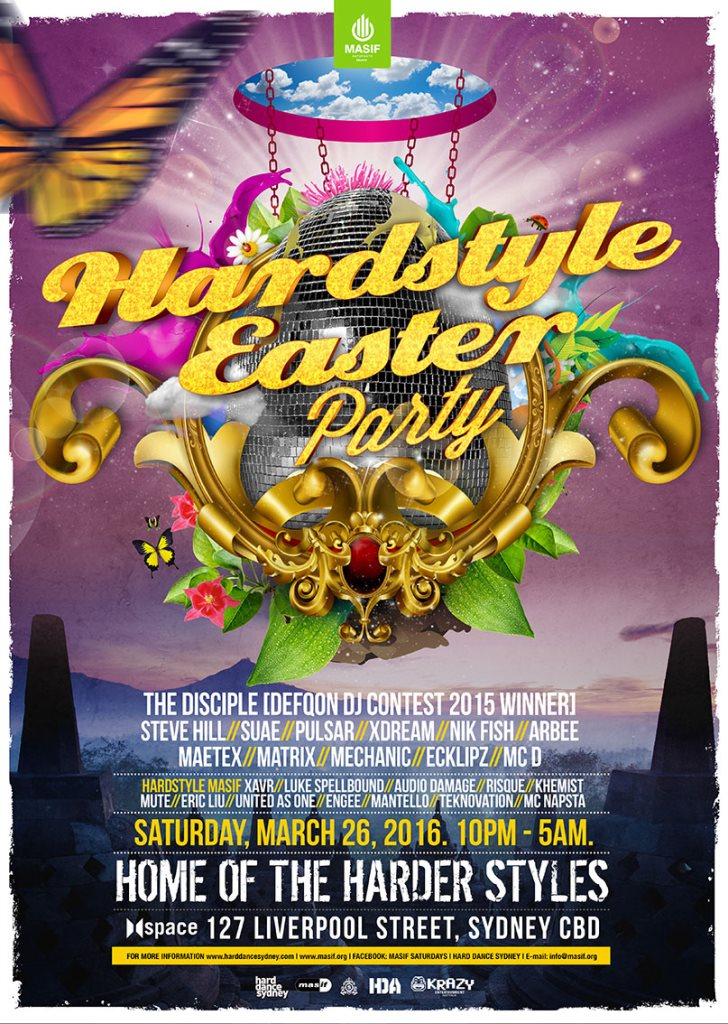 Ra masif saturdays presents hardstyle easter at space sydney 2016 line up negle Choice Image