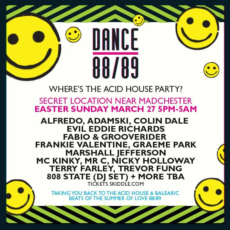 Ra dance 88 89 where 39 s the acid house party at tba for Acid house party