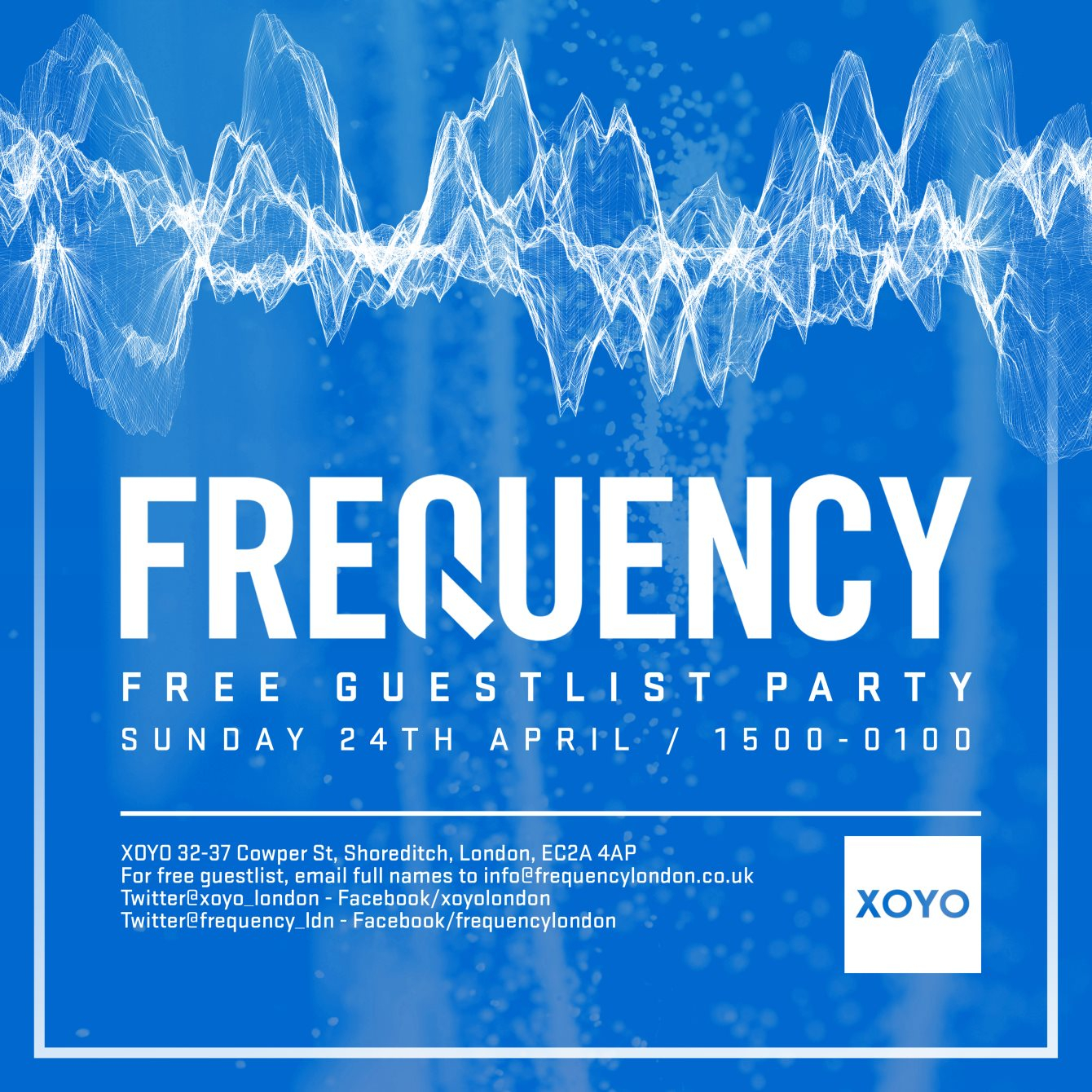 RA: Frequency - Free Guest List Party at XOYO, London (2016)