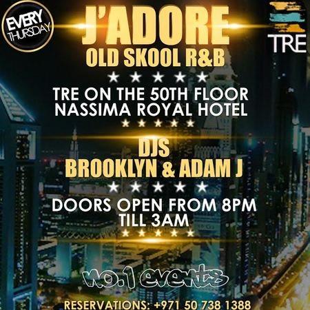 RA Jadore RnB Hiphop Nights Every Thursday Lounge Dubai At Tre