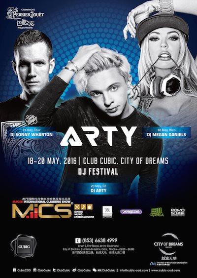 RA: Mics DJ Festival feat  Arty at Cubic, Macau (2016)