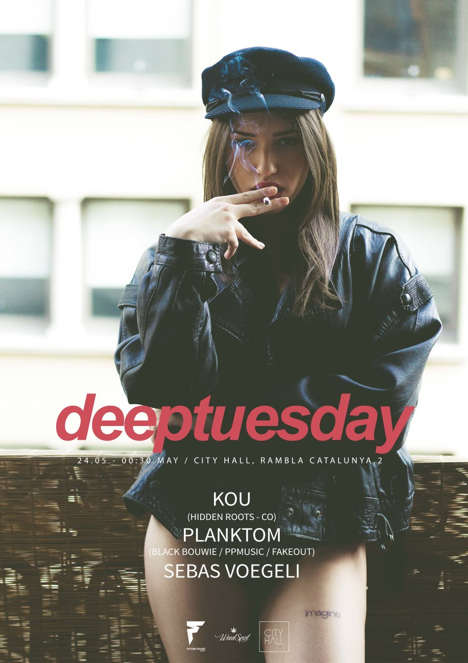 Page 1 | 24 May 2016 | Barcelona | Deeptuesday at City Hall. Published by DjMaverix on Monday, 23 May 2016 in Clubs and Discoteque (Events)