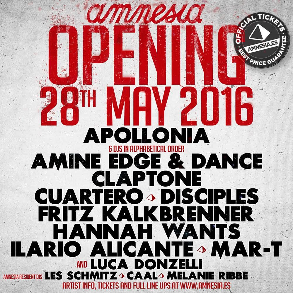 Page 1 | 28 May 2016 | Ibiza | Amnesia Ibiza Opening 2016. Published by DjMaverix on Thursday, 26 May 2016 in Live Set - Dance Hall - Party (Events)