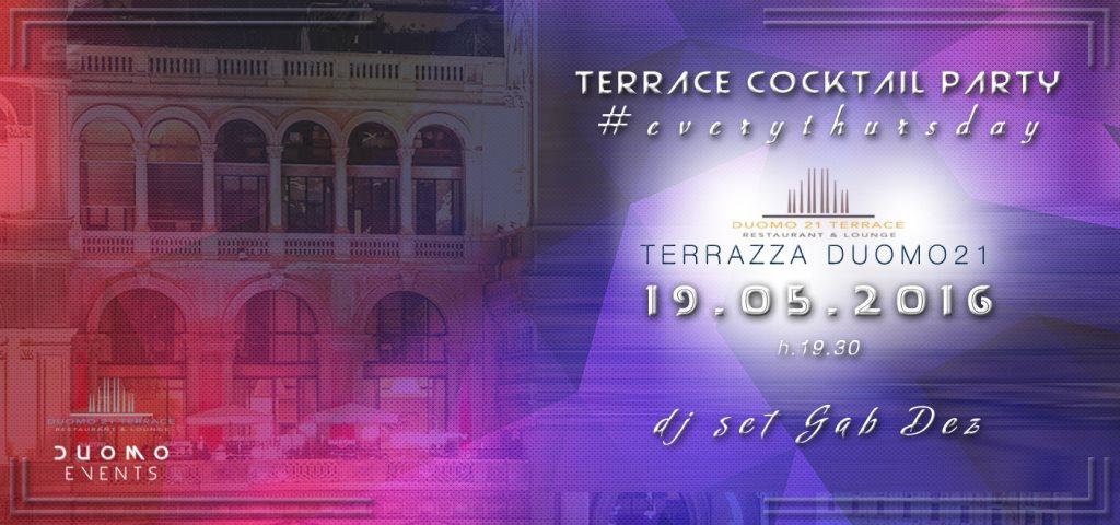 Ra Terrace Cocktail Party At Duomo 21 Milan 2016