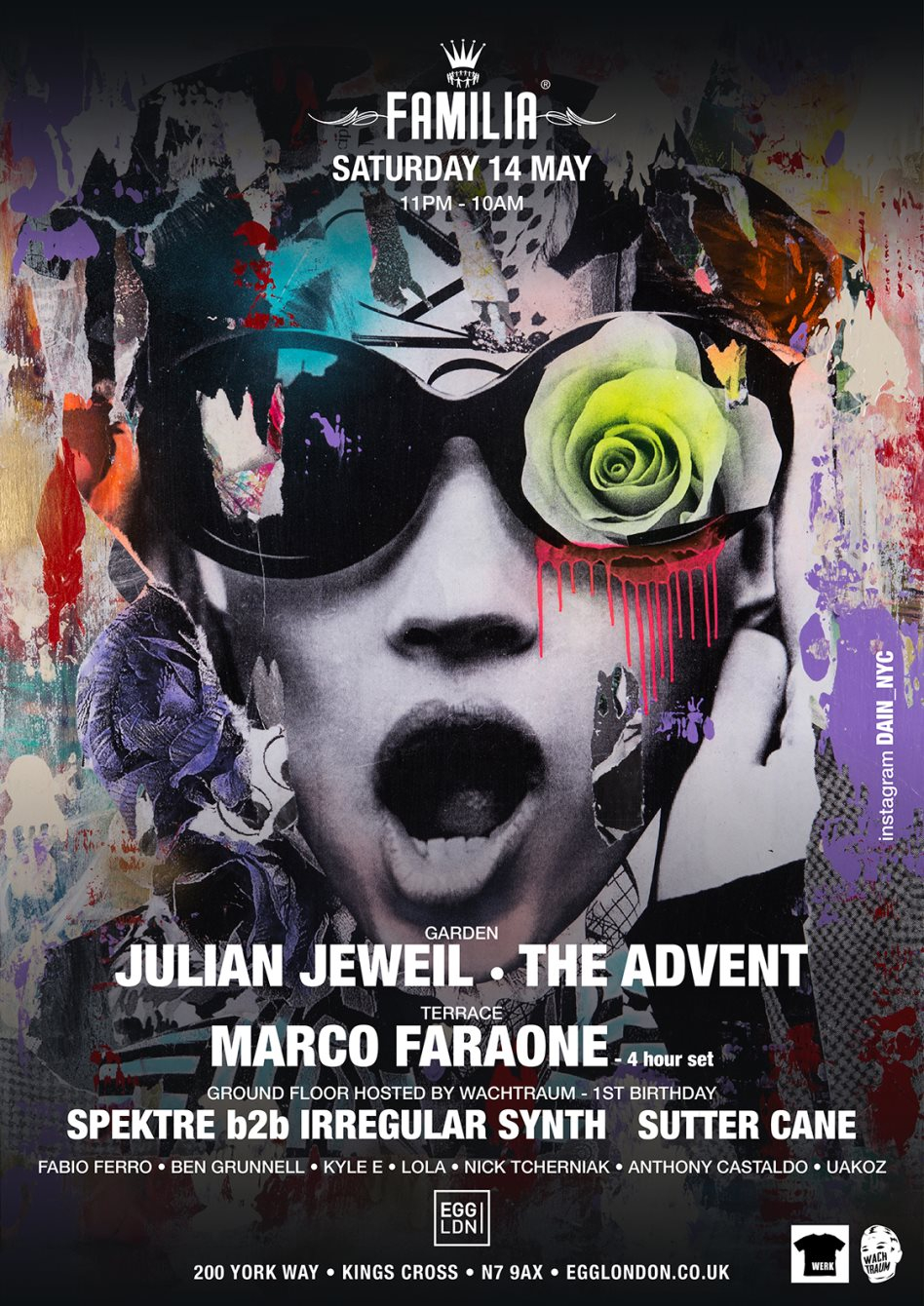 Page 1   14 May 2016   London   Familia: The Advent, Julian Jeweil, Marco Faraone, Spektr... Published by DjMaverix on Friday, 13 May 2016 in Live Set - Dance Hall - Party (Events)
