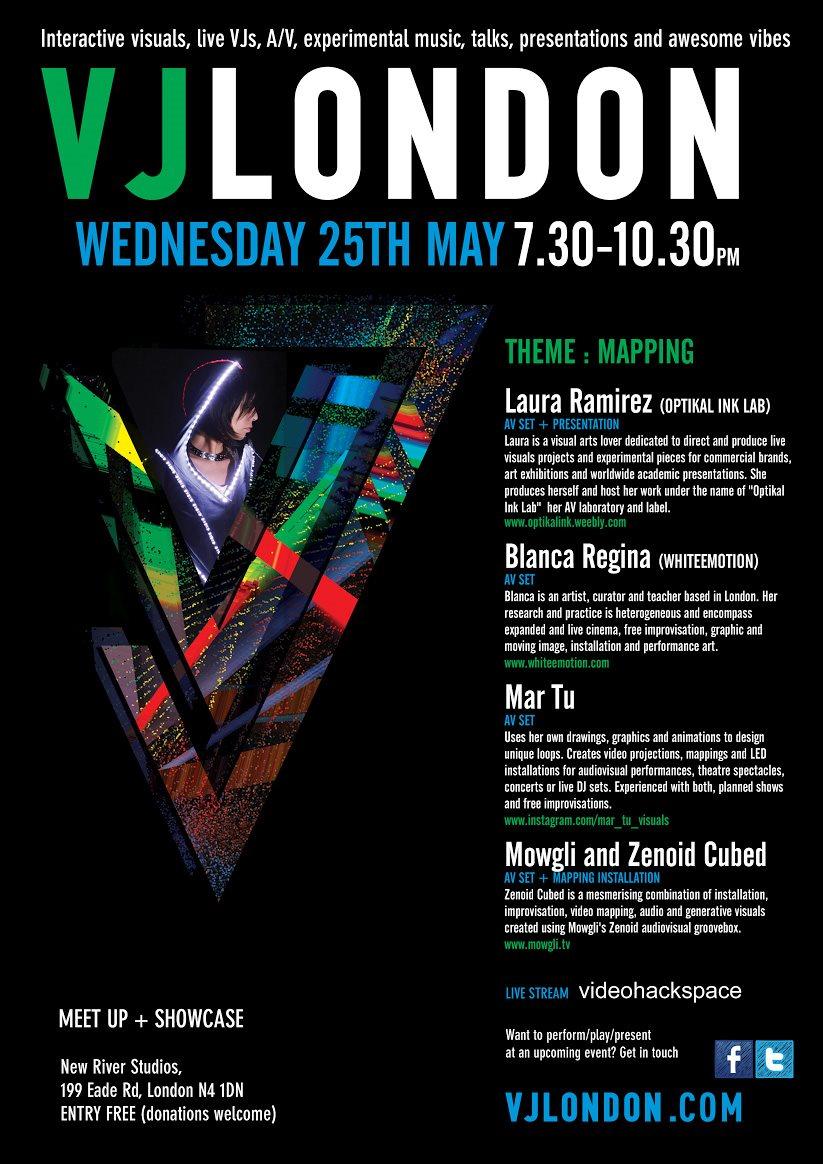 RA: May VJ London Meetup & Showcase, Mapping at New River