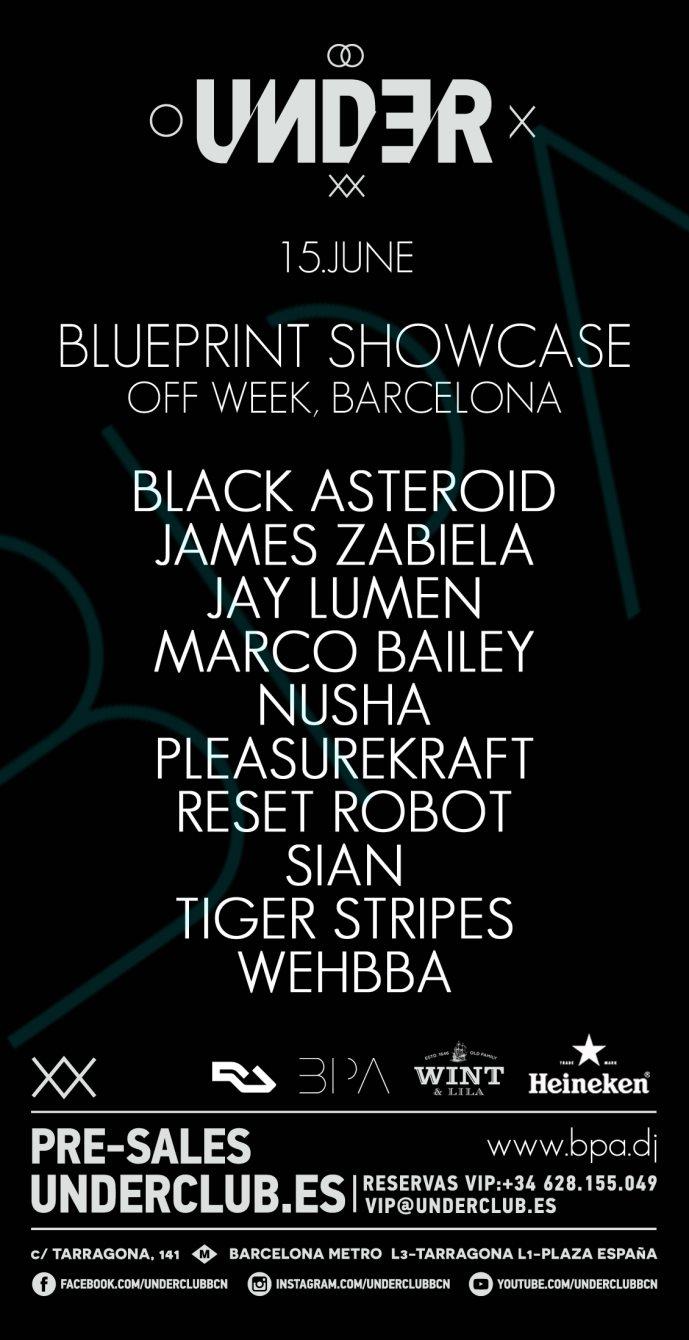Ra blueprint off week at under club barcelona 2016 line up malvernweather Images