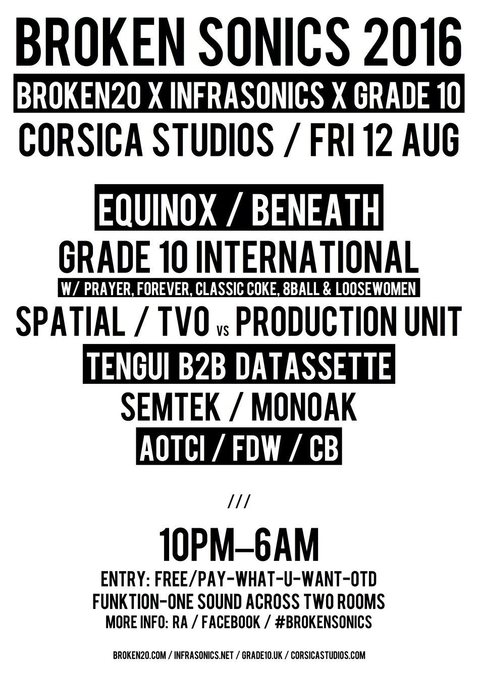 RA: Broken Sonics 2016 at Corsica Studios, London (2016)
