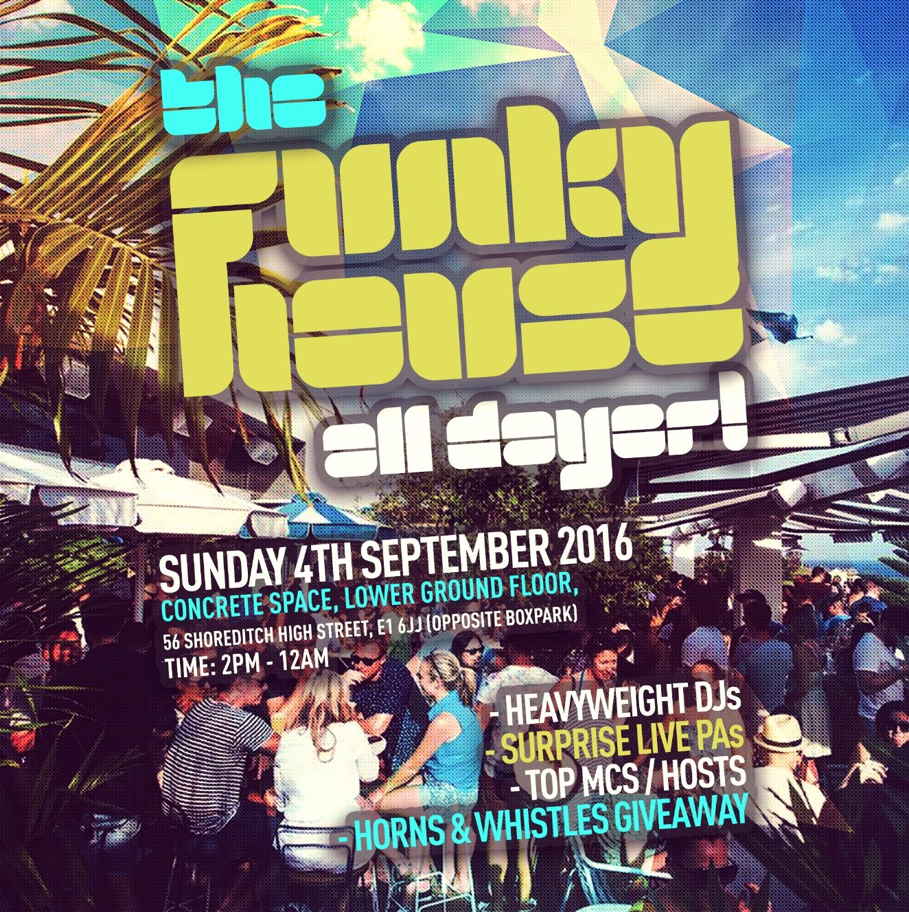Ra the funky house all dayer ticket only event at for Funky house london