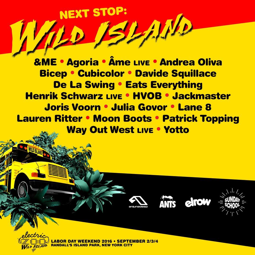 ra sunday school at electric zoo wild island anjunadeep line up