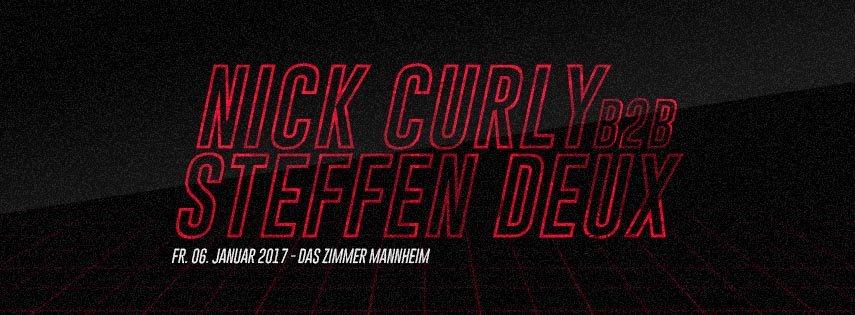 ra nick curly b2b steffen deux im zimmer at das zimmer mannheim. Black Bedroom Furniture Sets. Home Design Ideas