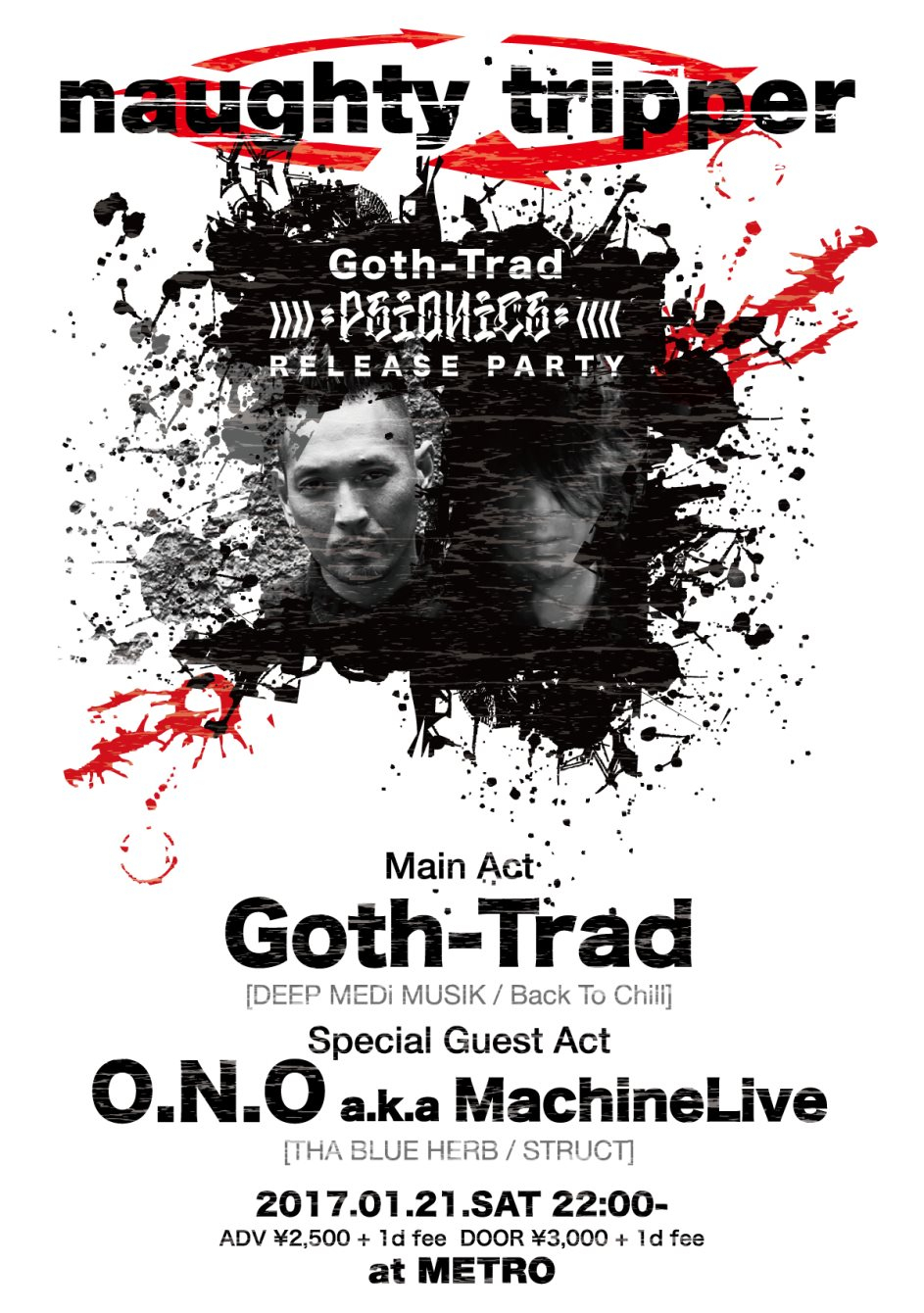 RA: Naughty Tripper Goth-Trad 'Psionics' Release Party at Club ...