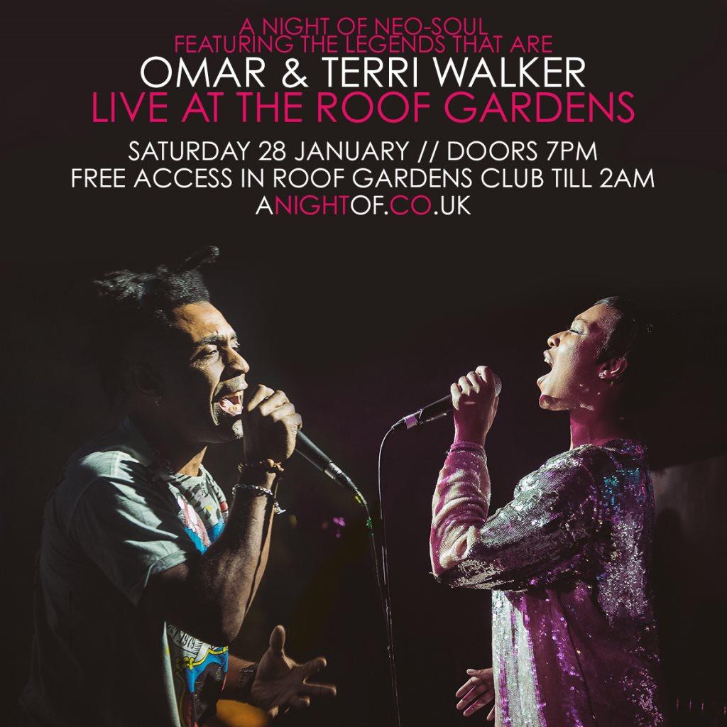 RA: A Night of Neo-Soul: Omar & Terri Walker at The