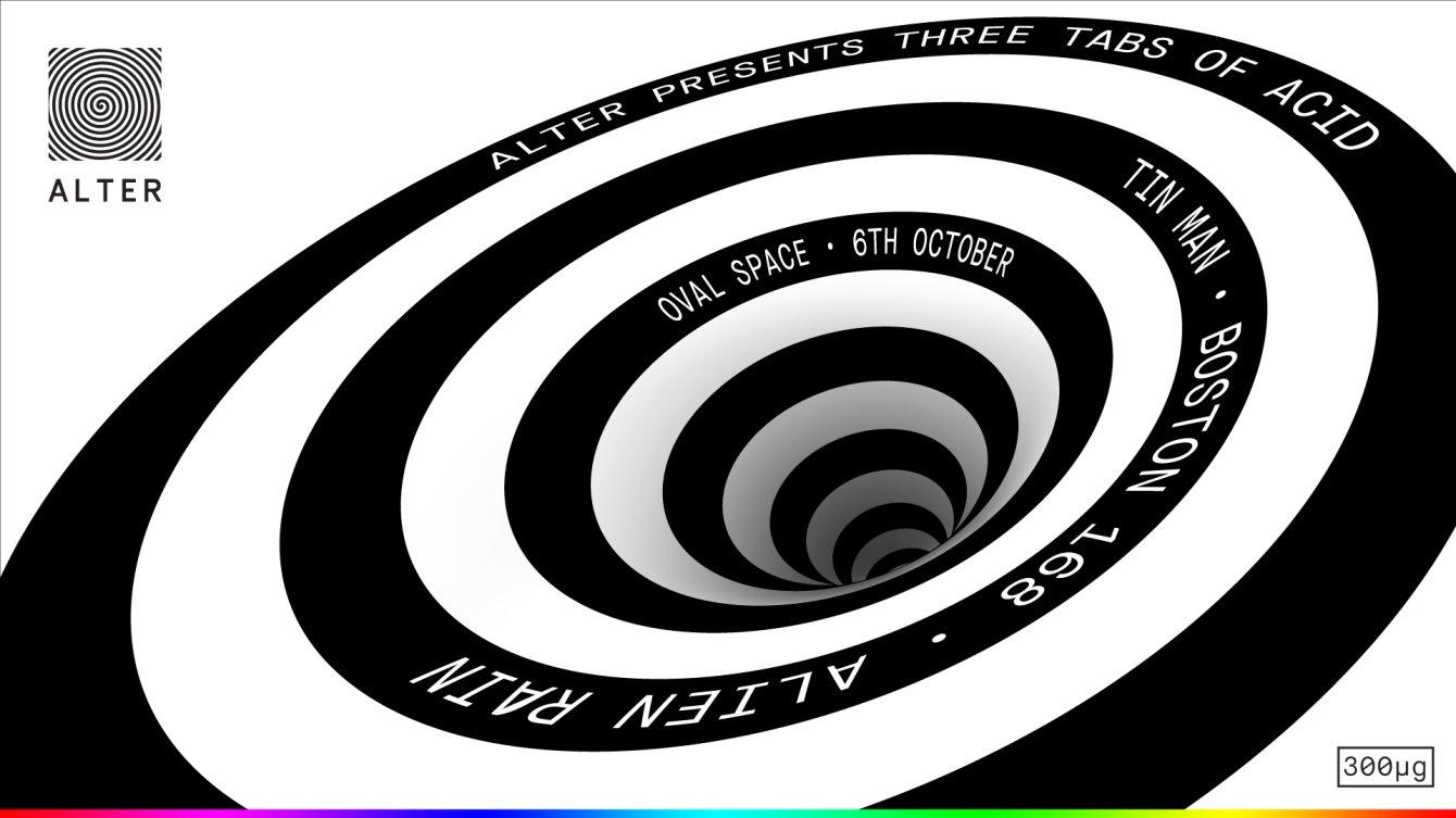 RA: Alter presents: Three Tabs of Acid with Tin Man, Boston