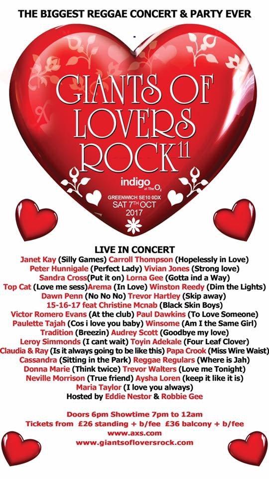 RA: Giants Of Lovers Rock at IndigO2, London (2017)