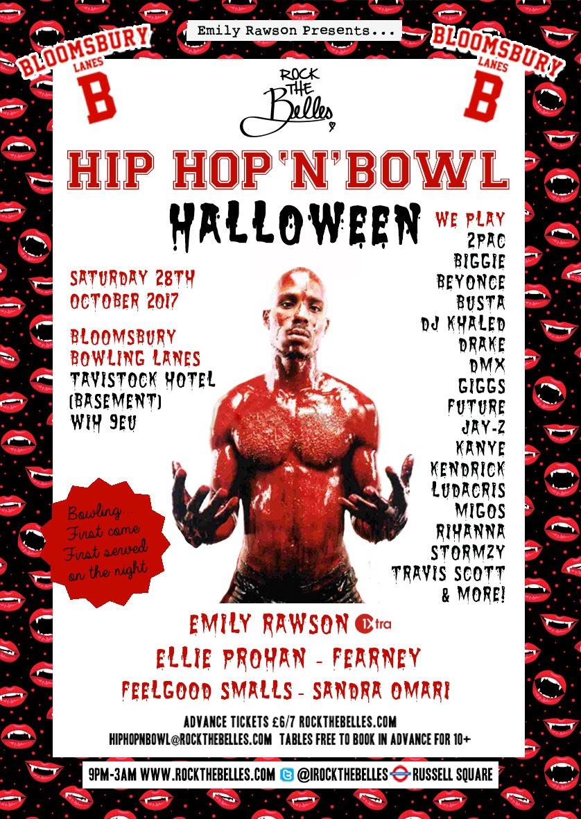 ra: rock the belles x hip hop'n'bowl x halloween at bloomsbury