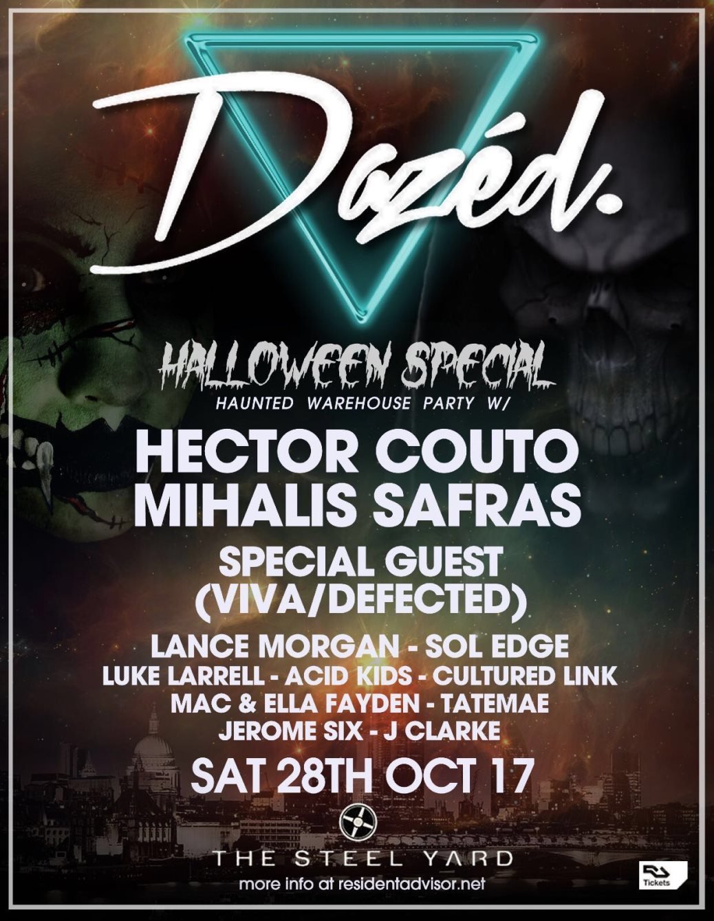 ra: dazed halloween - sold out at the steelyard, london (2017)