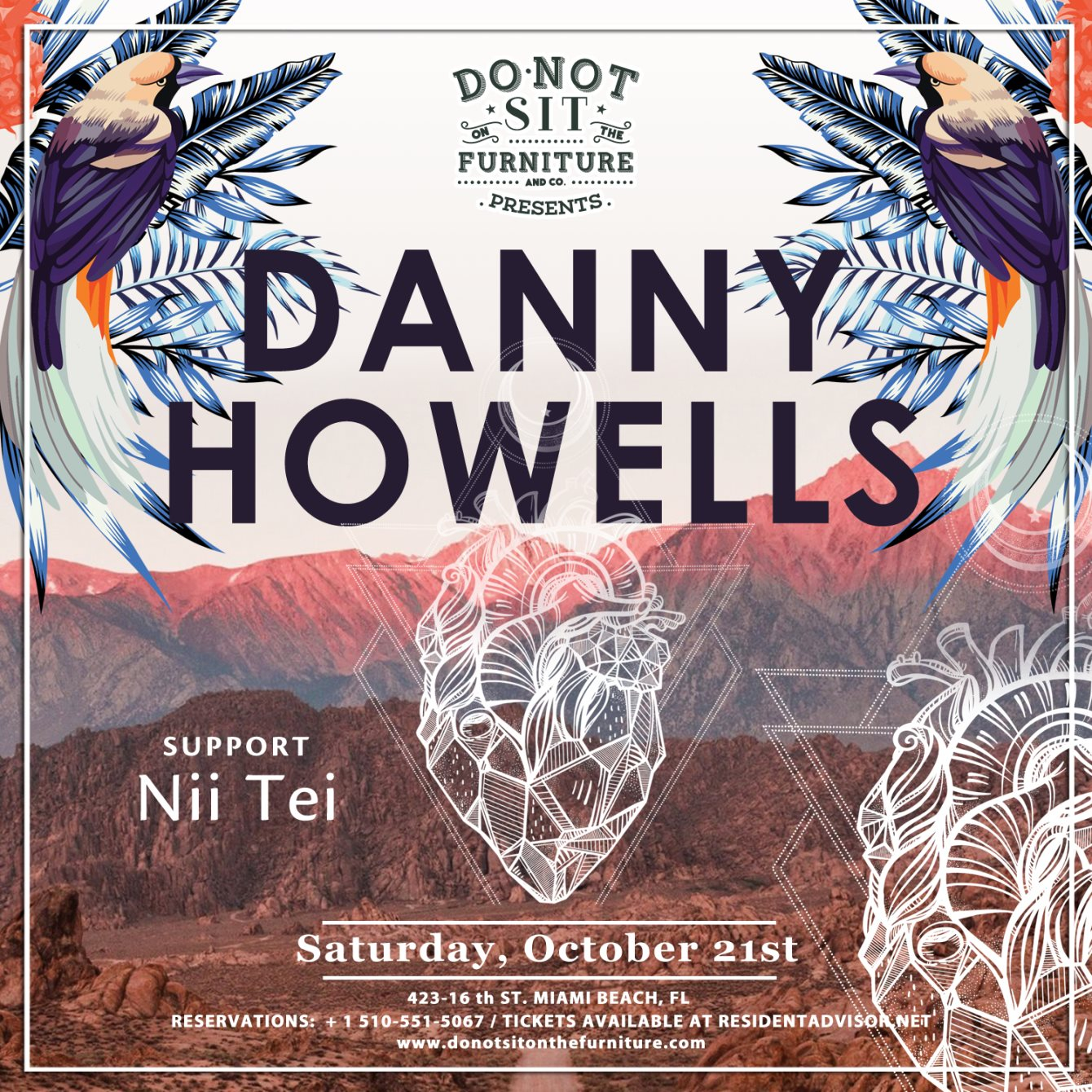 RA Tickets: Danny Howells at Do Not Sit On The Furniture, Miami