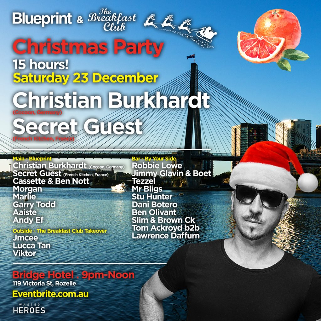 Ra blueprint breakfast club xmas party with christian burkhardt line up malvernweather Gallery