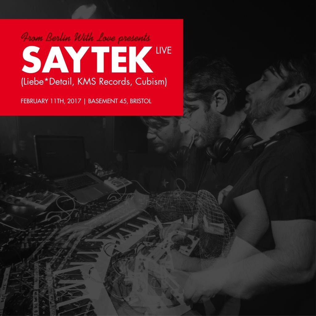 Ra From Berlin With Love Presents Saytek Live At Basement 45 Bristol 2017