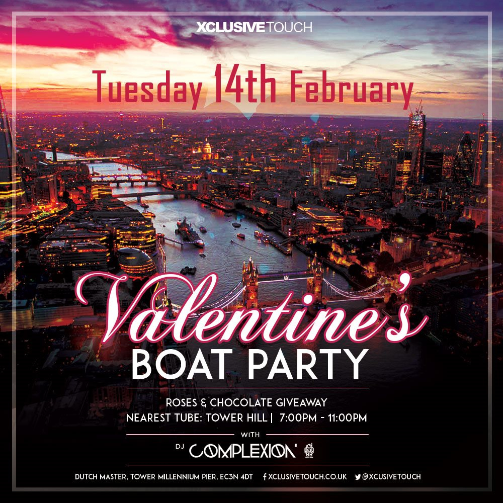 Ra Valentine S Day Boat Party At The Dutch Master London 2017
