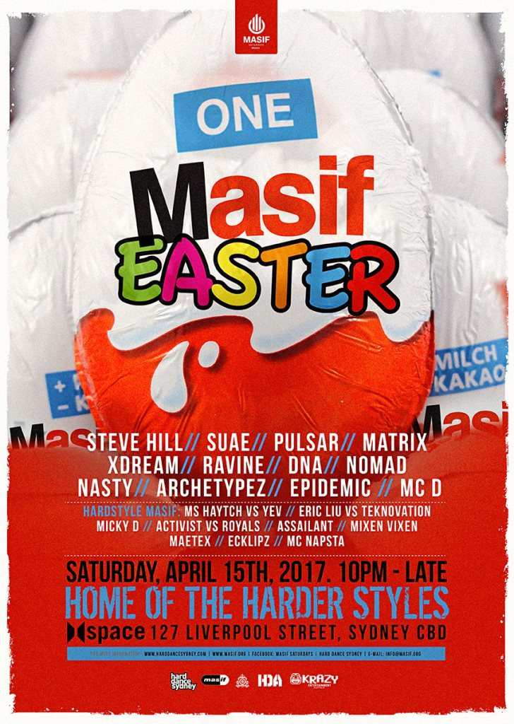 Ra masif saturdays presents one masif easter at space sydney 2017 line up negle Choice Image