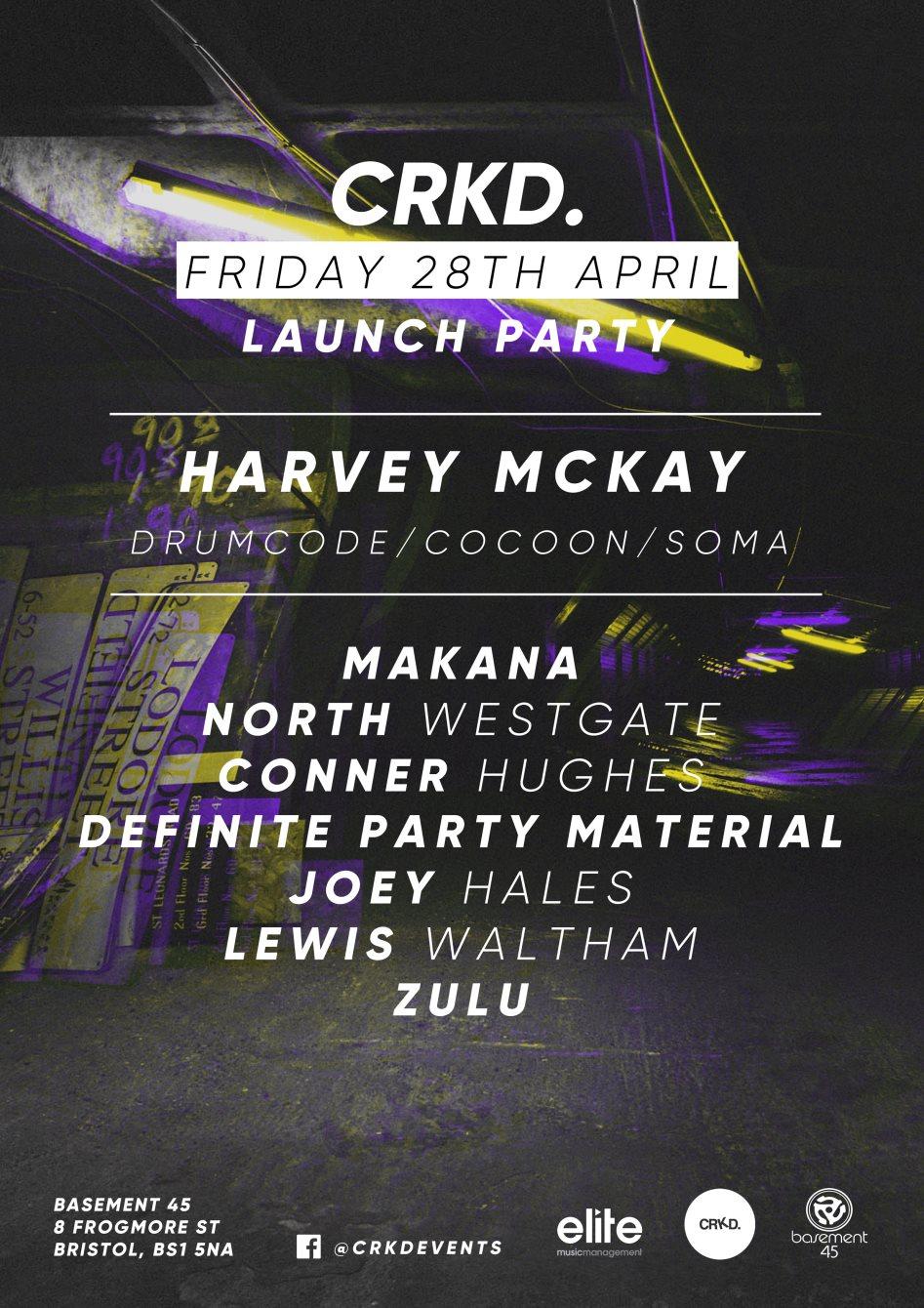 Ra Crkd Presents Harvey Mckay Drumcode At Basement 45 Bristol 2017