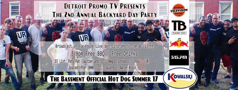RA 2nd Annual Backyard Day Party At The Bassment Detroit 2017