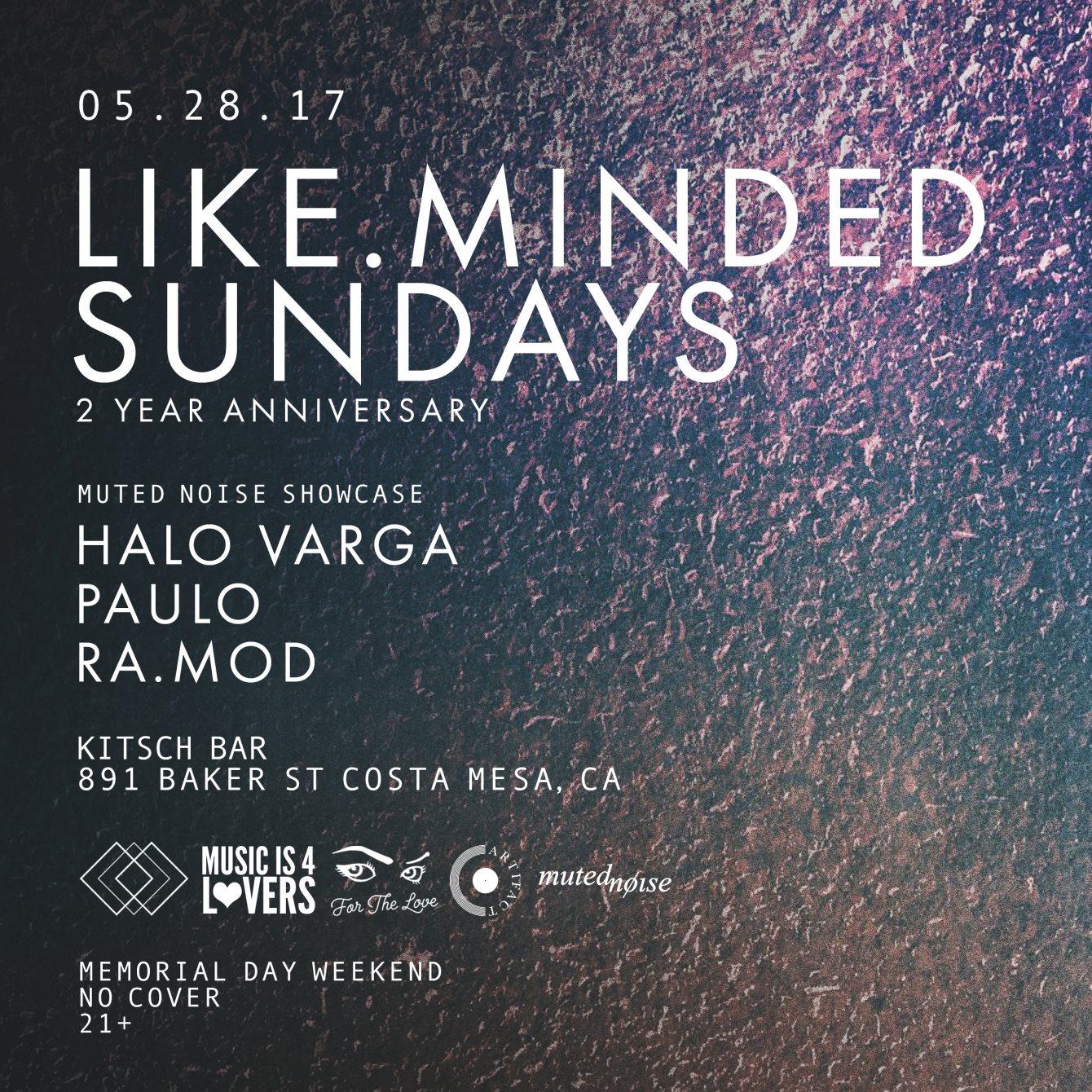 RA: Like Minded Sundays 2 Year Anniversary with Halo Varga