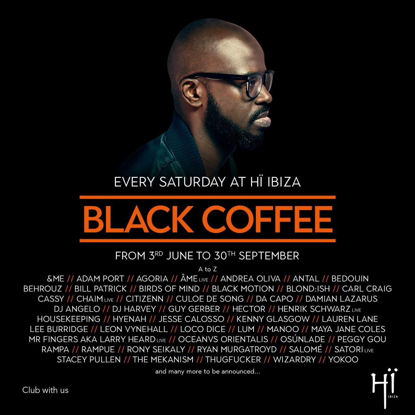 ra: black coffee at hï ibiza, ibiza