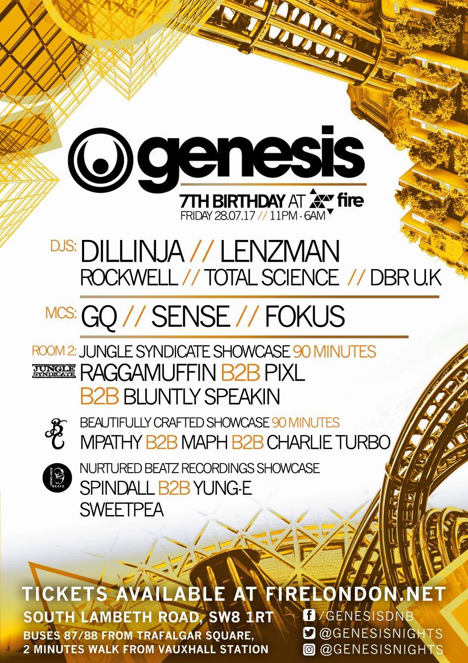 RA: Genesis 7th Birthday with Dillinja, Lenzman, Rockwell