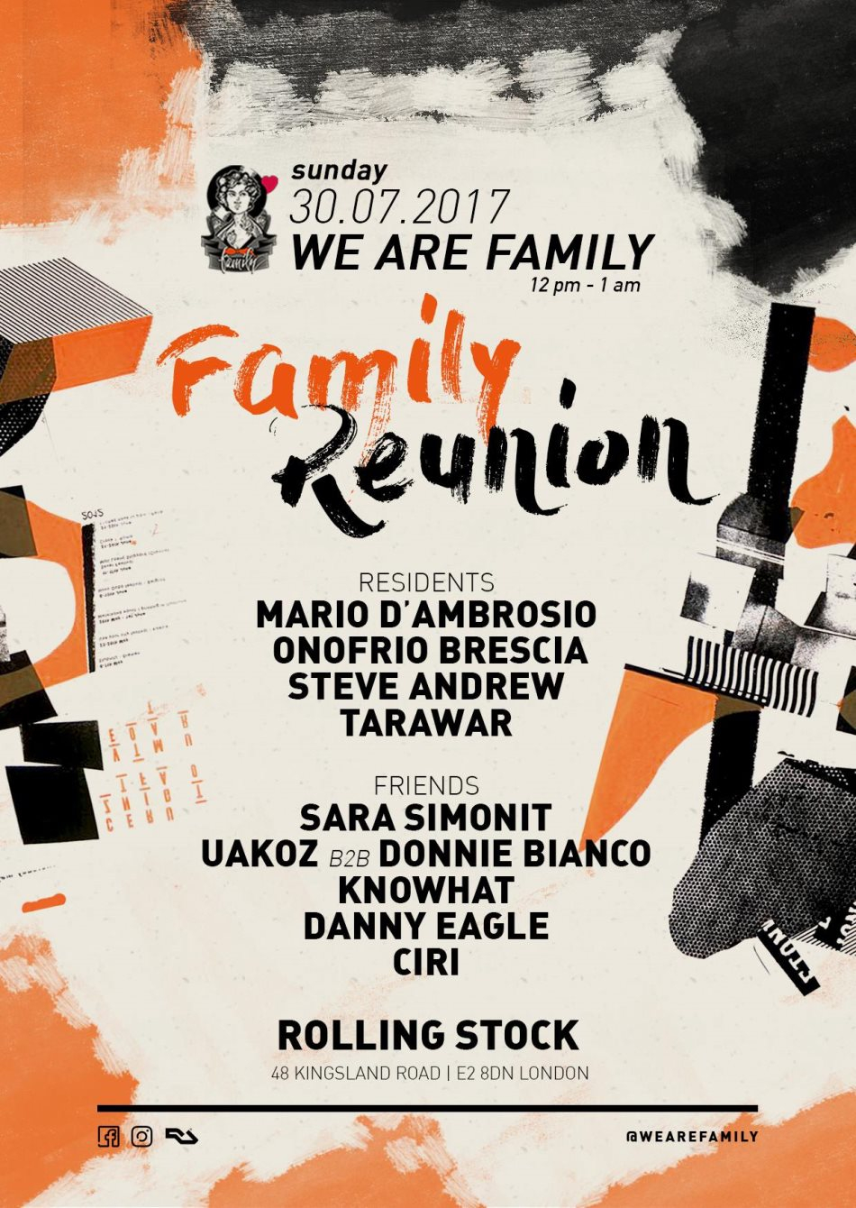 Line Up /  Family Reunion Flyer
