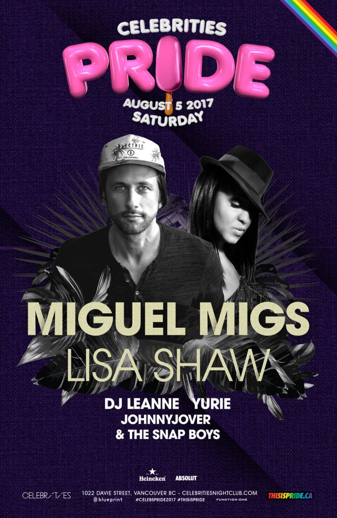 Ra miguel migs lisa shaw at celebrities night club vancouver 2017 line up malvernweather Choice Image