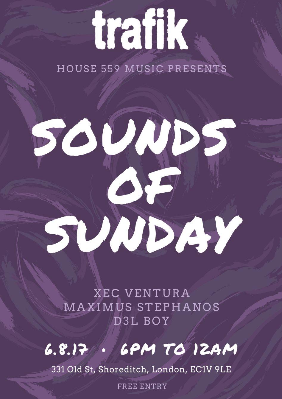 RA: House 559 Music presents: Sounds Of Sunday at Trafik, London (2017)