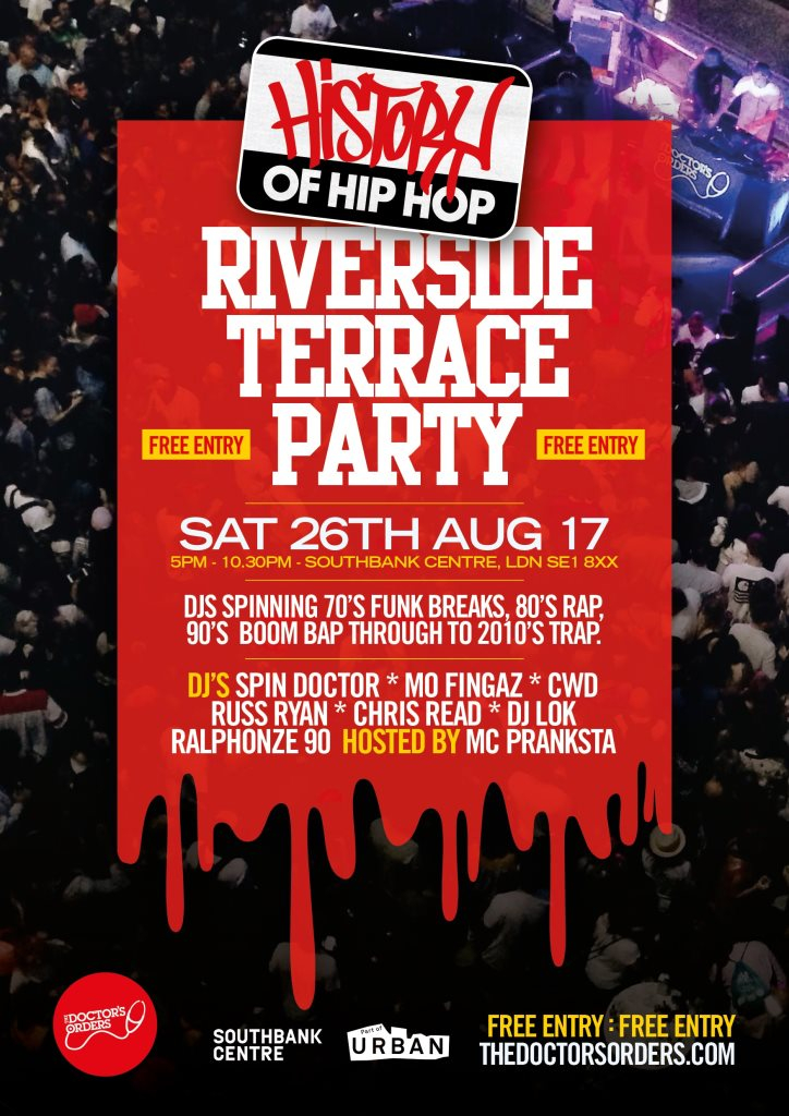 RA: History of Hip-Hop Riverside Terrace Party at Southbank