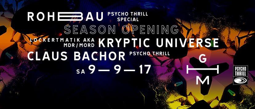 Rohbau Düsseldorf ra season opening rohbau psycho thrill special at golzheim