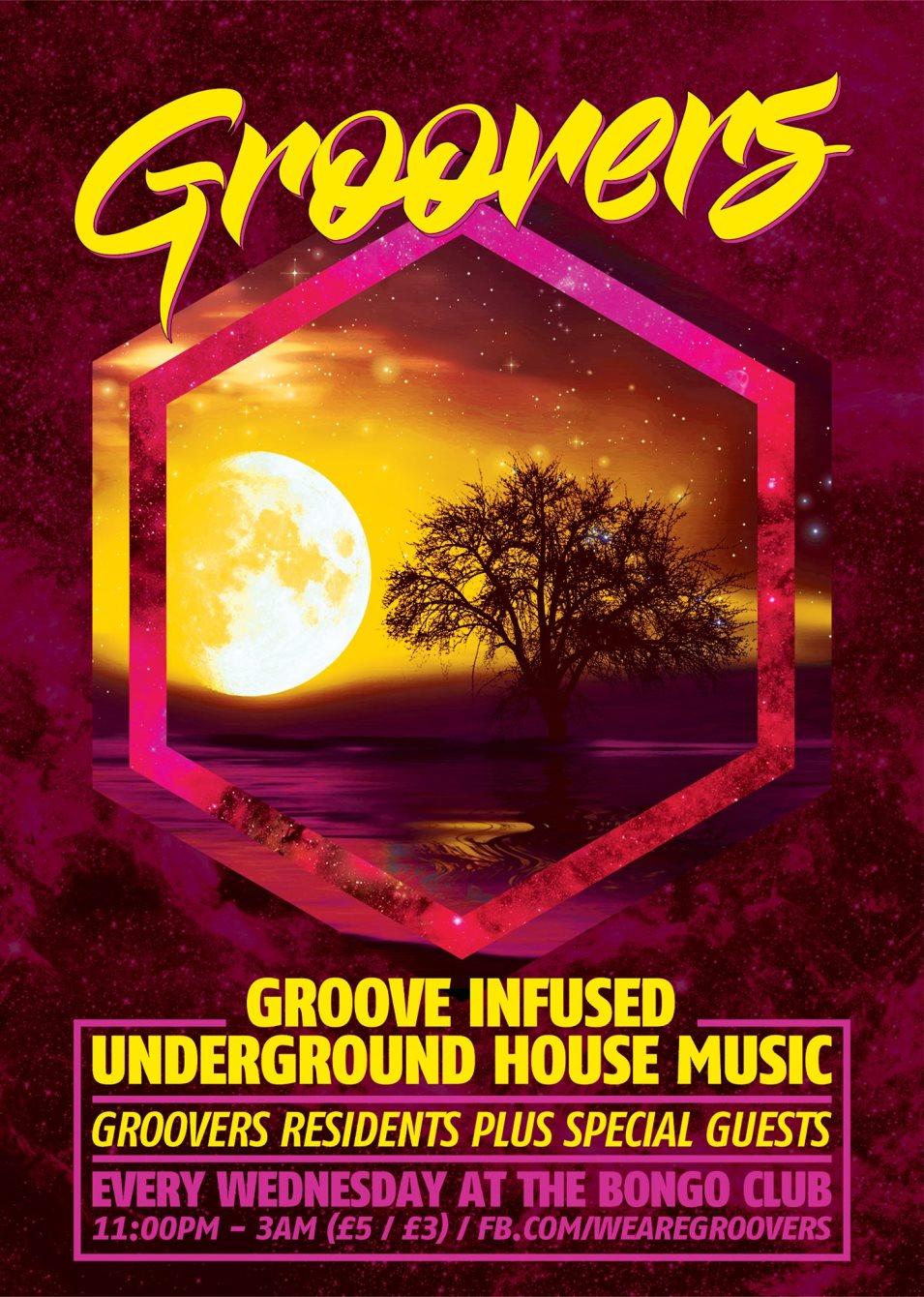 RA: Groovers - Freshers Party at The Bongo Club, Edinburgh