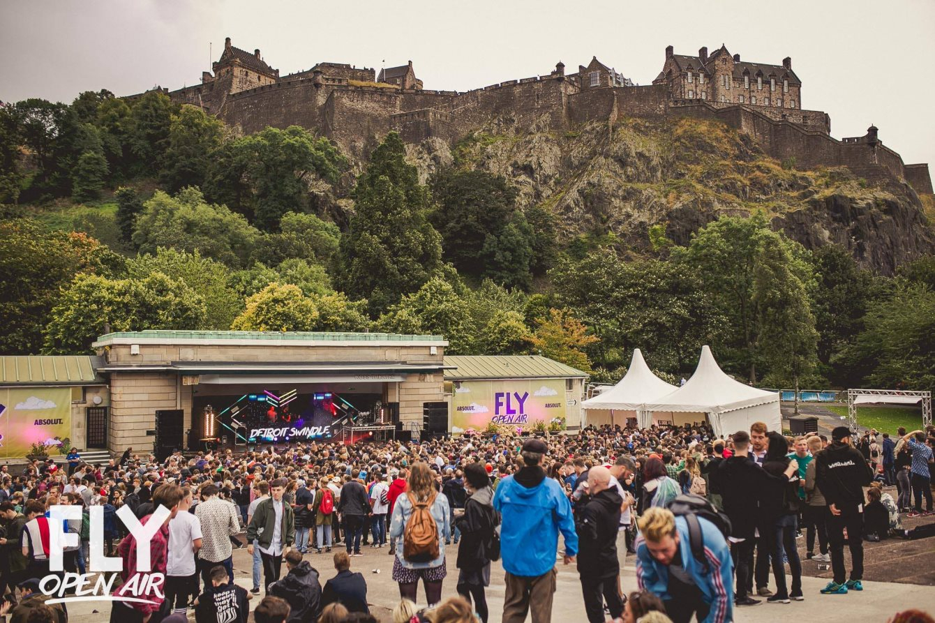 RA: FLY Open Air Festival at Ross Band Stand, Princes Street Gardens ...