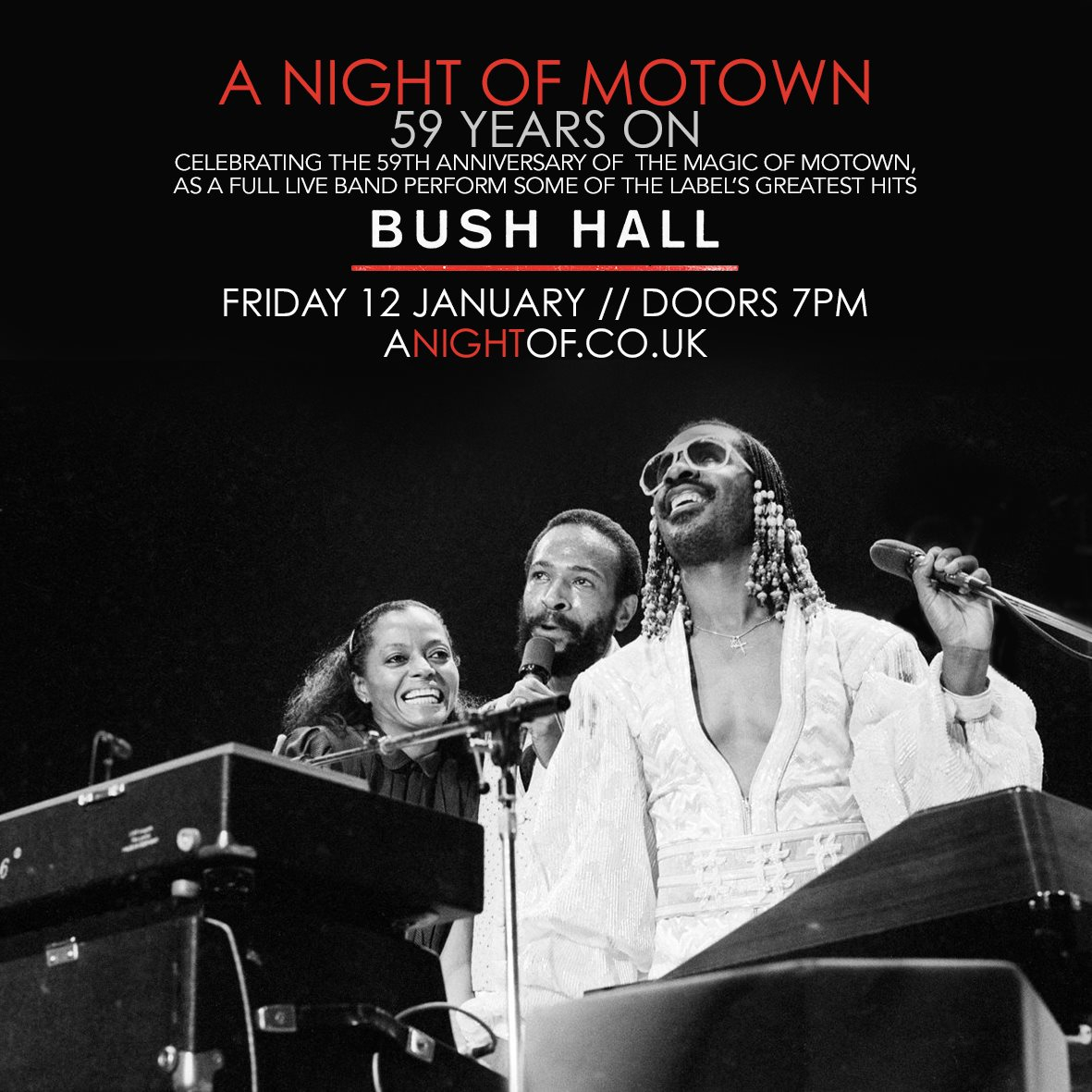RA: A Night of Motown: 59 Years On at Bush Hall, London (2018)