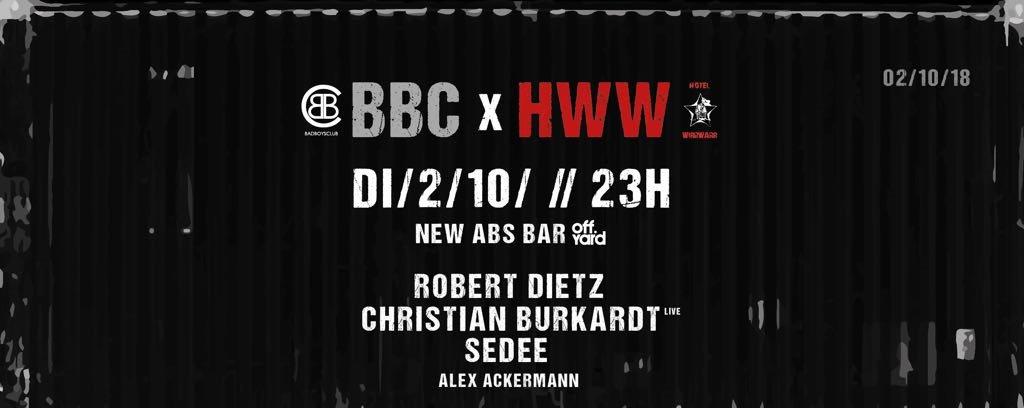 RA: Bad Boys Club X Hotel Wirrwarr at OFF Yard, Frankfurt