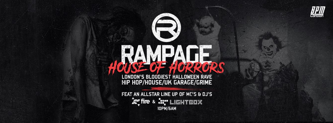 RA: The House of Horrors - Rampage Sound Halloween Rave at Fire